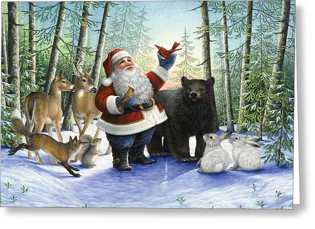 Santa's Christmas Morning Greeting Card