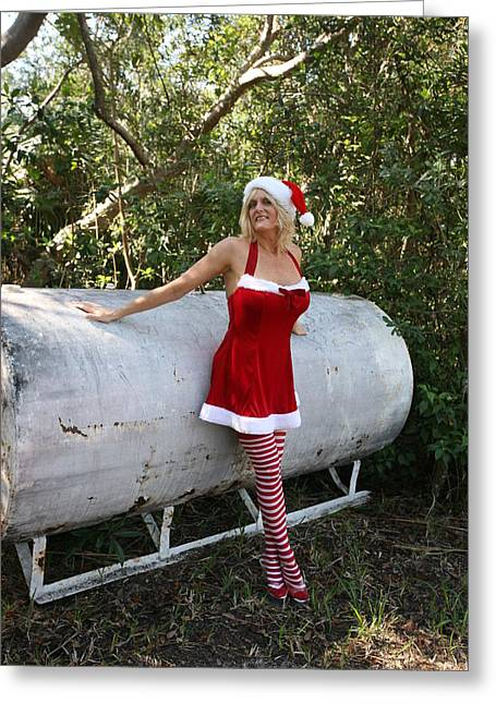 Santa's Naughty Lil' Helper 1345 Greeting Card