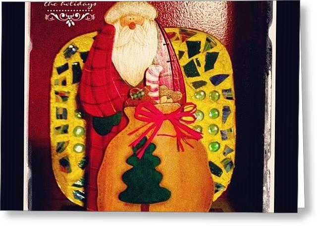 Santa's Sack Is Getting Full! #santa Greeting Card