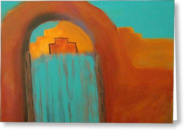Greeting Card featuring the painting Sante Fe by Keith Thue