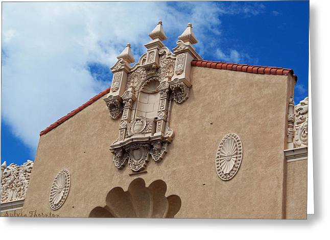 Greeting Card featuring the photograph Sante Fe Theatre by Sylvia Thornton