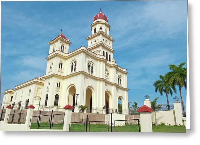 Santiago, Cuba, Famous Church Called Greeting Card by Bill Bachmann