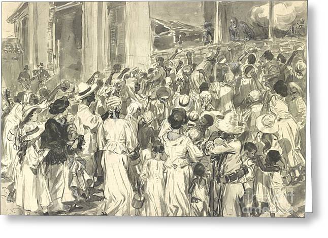 Santiago Refugees 1898 Greeting Card by Padre Art