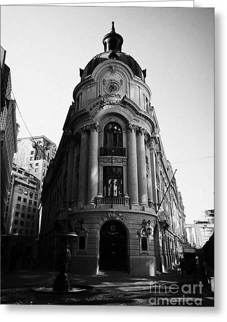 Santiago Stock Exchange Building Chile Greeting Card by Joe Fox