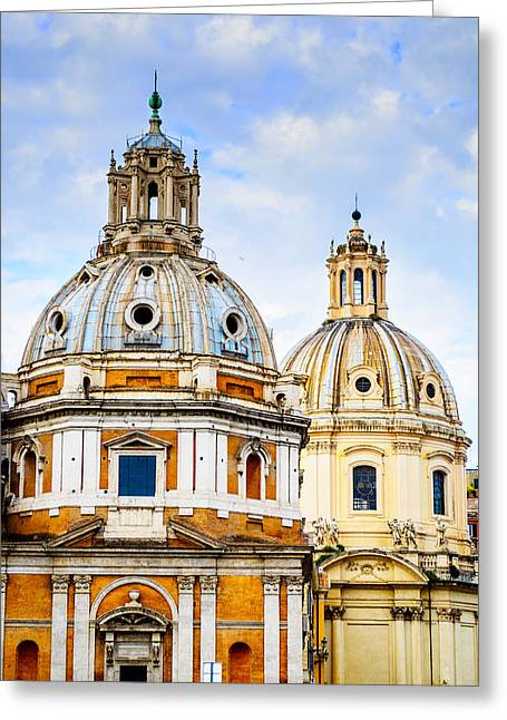 Santissimo Nome Di Maria Al Foro Traiano Greeting Card by Treadwell Images