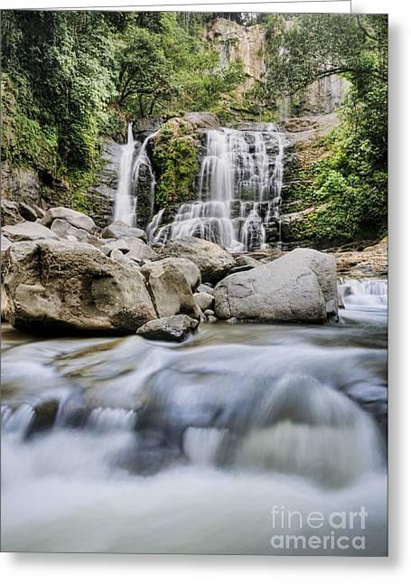 Santo Cristo Falls Greeting Card by Oscar Gutierrez