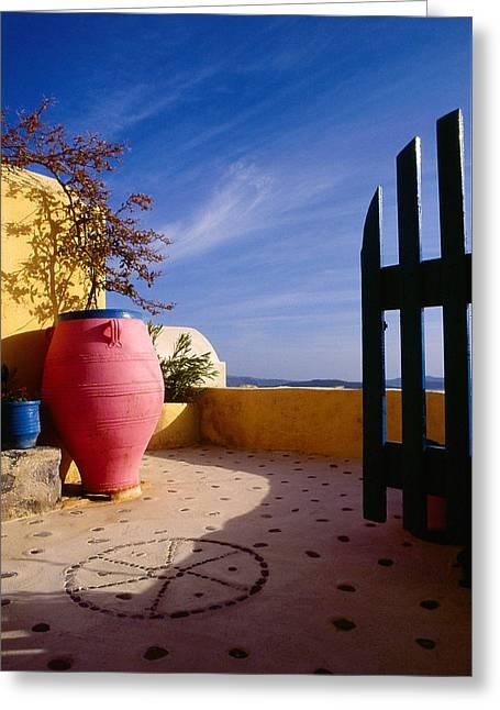 Santorini 020 Greeting Card