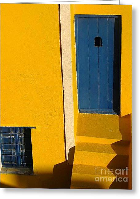 Santorini Doorway Greeting Card