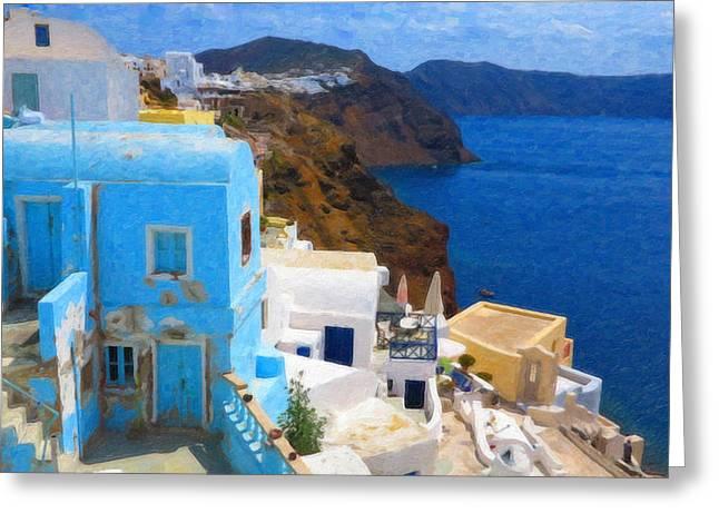 Santorini Grk2806 Greeting Card