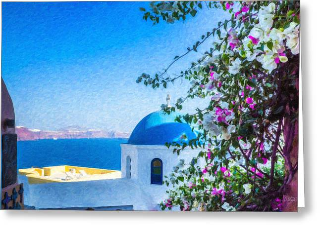 Santorini Grk4166 Greeting Card