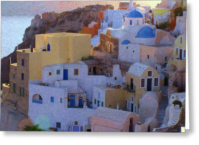 Santorini Grk6424 Greeting Card