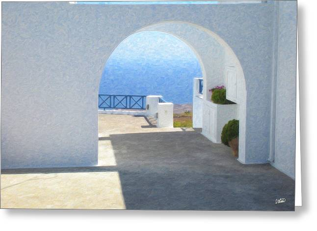 Santorini Grk8681 Greeting Card