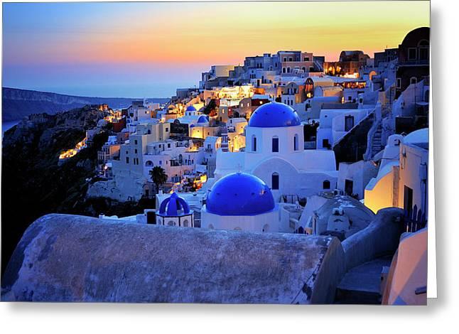 Santorini Island, Greece Greeting Card