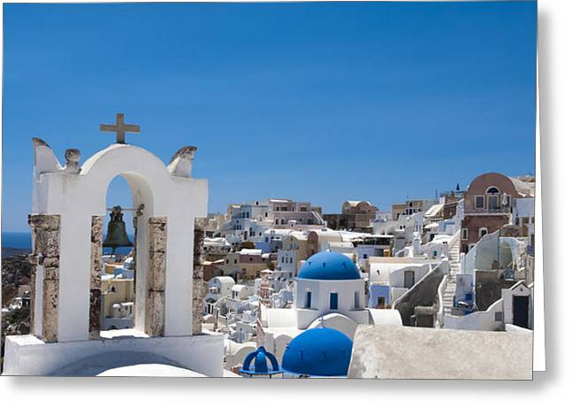 Santorini Mid-summer Day Greeting Card