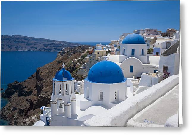Santorini On A Summer Day Greeting Card