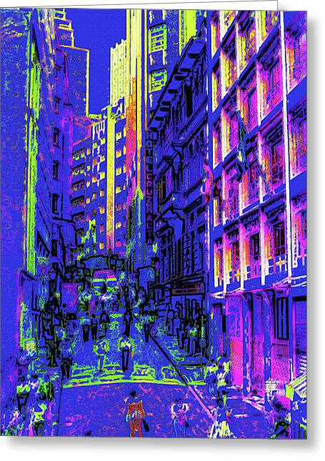 Sao Paulo Downtown At Night Greeting Card by Steve Ohlsen