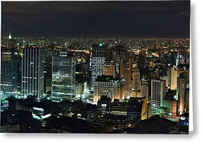 Sao Paulo Downtown From Terraco Italia Greeting Card by Carlos Alkmin