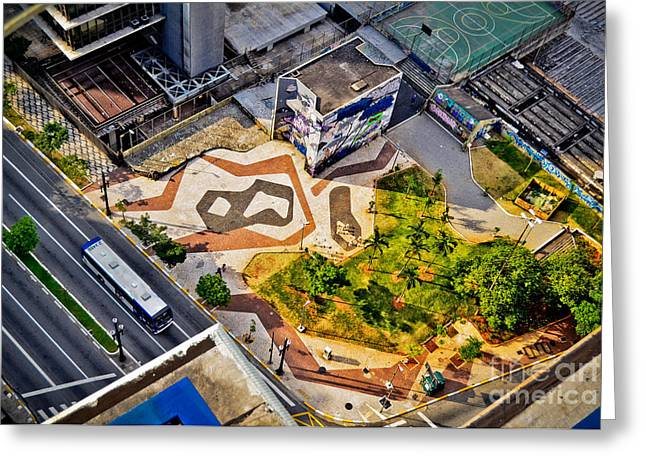 Sao Paulo Downtown - Geometry Of Public Spaces Greeting Card