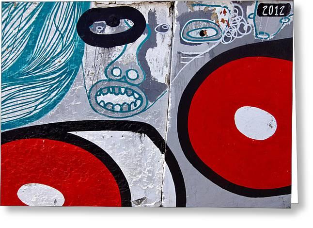 Sao Paulo Graffiti I Greeting Card by Julie Niemela