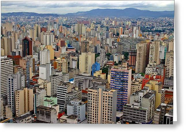 Greeting Card featuring the photograph Sao Paulo by Henry Kowalski