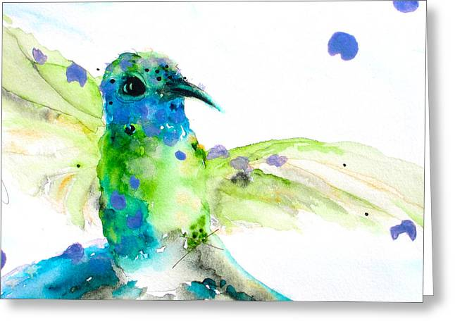 Sapphire Greeting Card by Dawn Derman