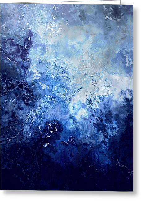 Sapphire Dream - Abstract Art Greeting Card