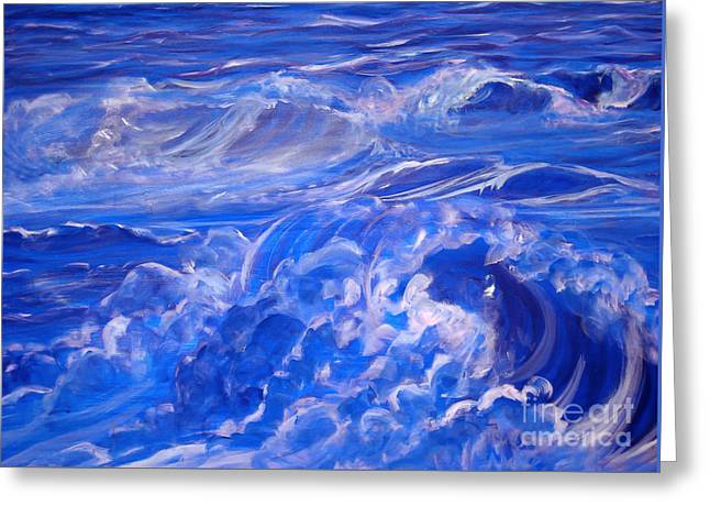 Sapphire Sea Greeting Card by Heather  Hiland