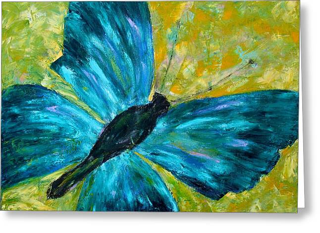Sapphirine Butterfly Greeting Card