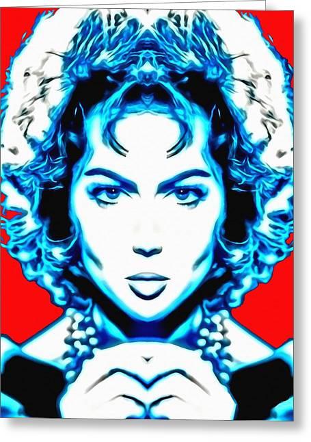 Sara Montiel Alias In Carmen La De Ronda Greeting Card by Art Cinema Gallery