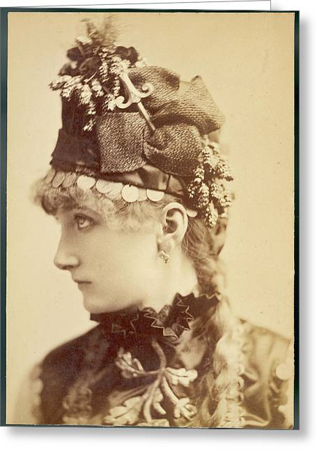 Sarah Bernhardt (1845 - 1923), French Greeting Card by Mary Evans Picture Library