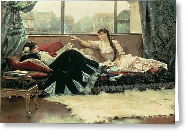 Sarah Bernhardt And Christine Nilsson Greeting Card