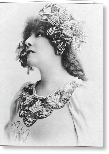 Sarah Bernhardt Greeting Card by Collection Abecasis