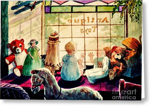Sarah's Bear Greeting Card by Marilyn Smith