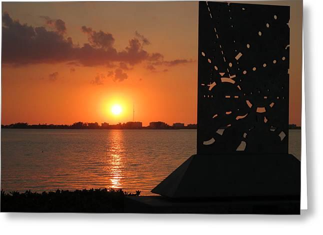 Sarasota Bay Sunset Greeting Card