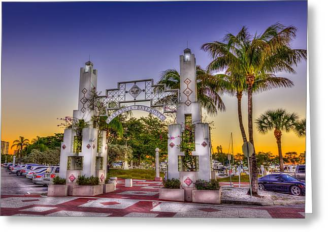 Sarasota Bayfront Greeting Card by Marvin Spates