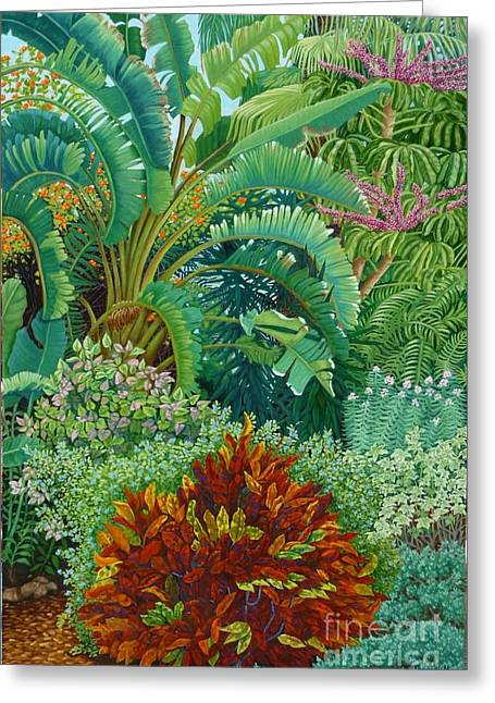 Sarasota Garden Greeting Card by Beverly Theriault