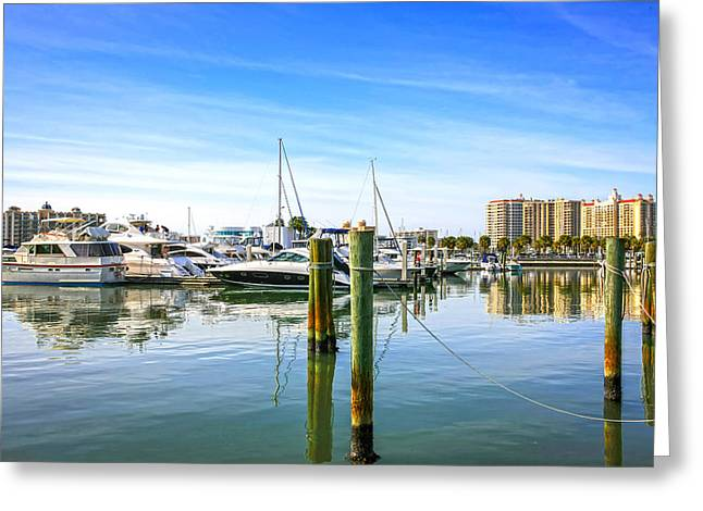 Sarasota Marina Greeting Card
