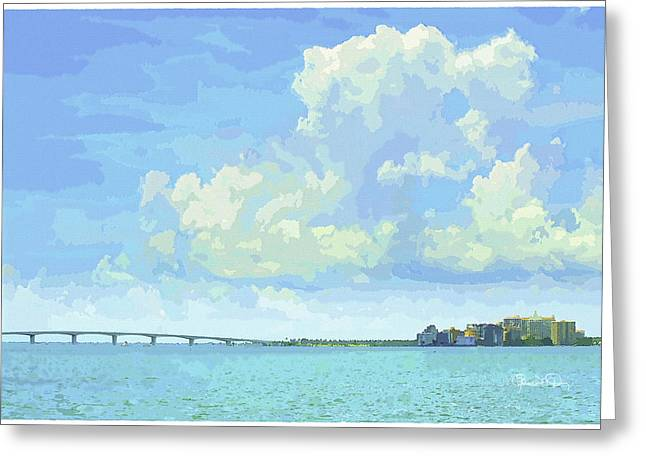 Sarasota Skyline From Sarasota Bay Greeting Card