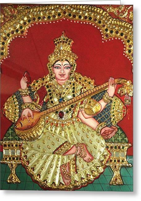 Saraswathi  Greeting Card by Jayashree