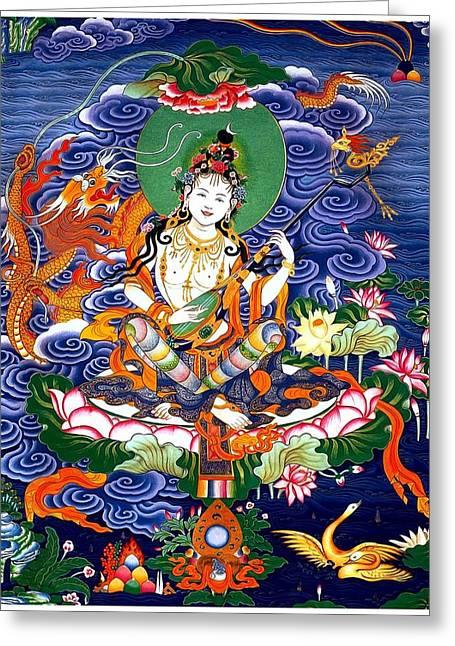 Saraswati 8 Greeting Card