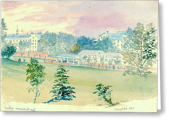 Saratoga Springs New York 1846 Greeting Card by Padre Art