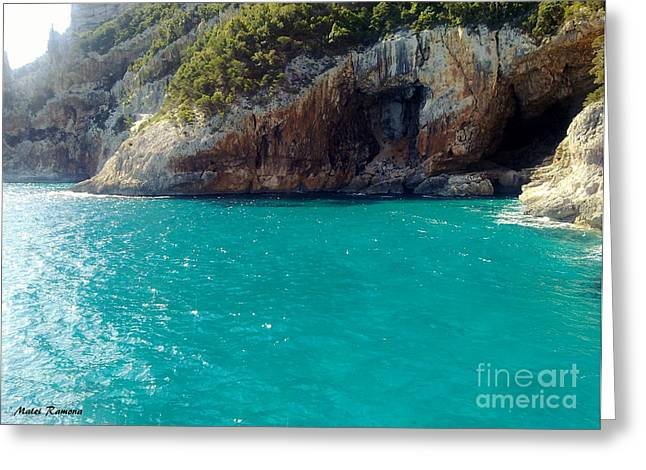 Greeting Card featuring the photograph Sardegna Sea by Ramona Matei