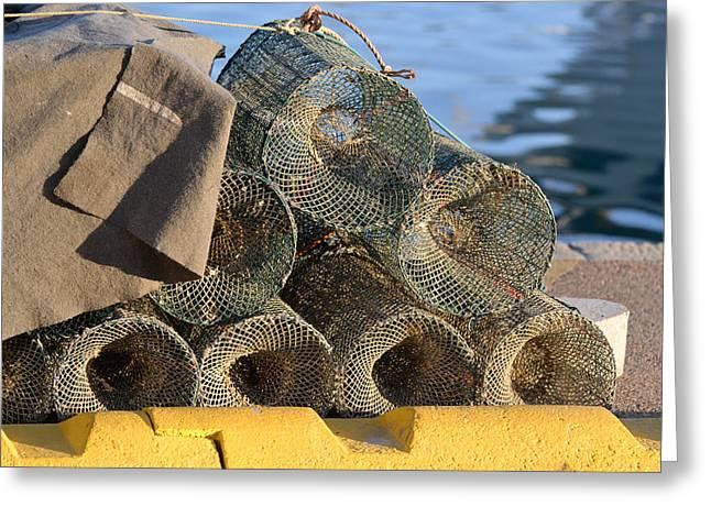 Sardinian Crab Traps Greeting Card by Bill Mock