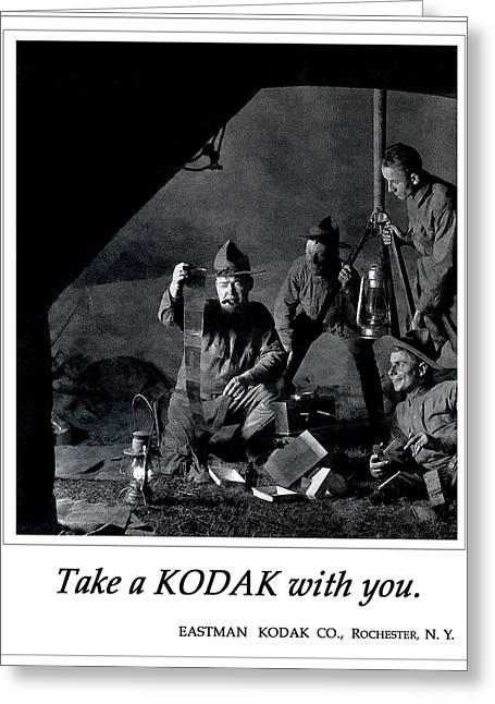 Sarge Is A Photographer. Circa 1917. Greeting Card