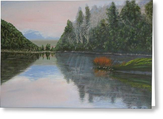 Sarita Lake On Vancouver Island Greeting Card