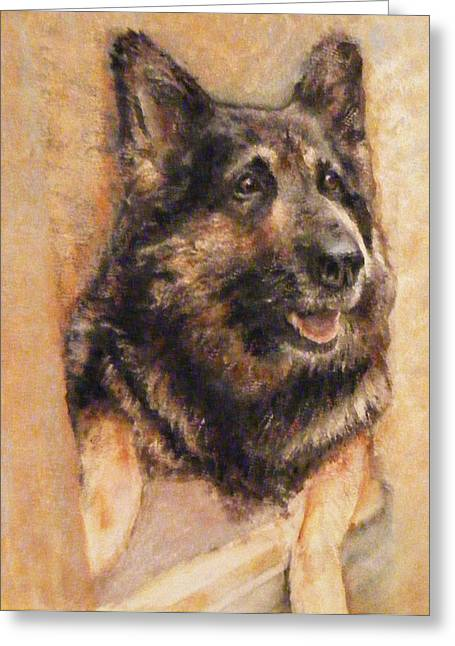 Sasha German Shepherd Greeting Card