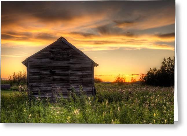 Saskatchewan Sunset Greeting Card by Matt Dobson