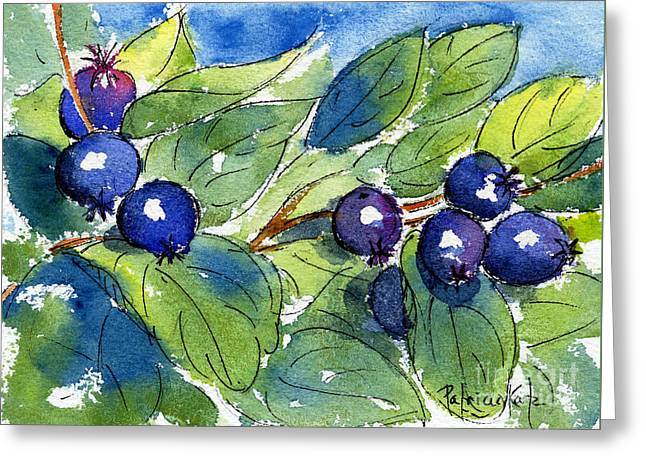 Saskatoon Berries Greeting Card