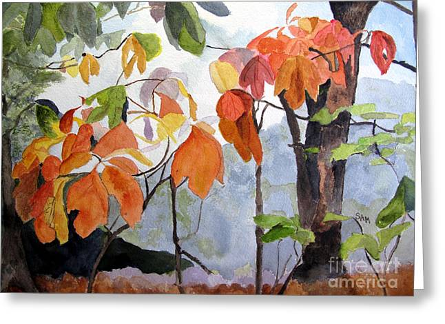 Sassafras Trees On The Ridge Greeting Card