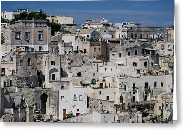 Sassi Of Matera Italy Greeting Card